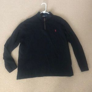 Polo black 3/4 zip